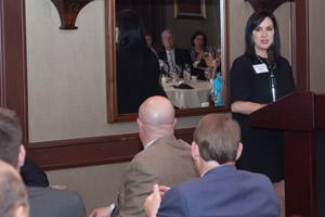 speaker at center for family owned business dinner